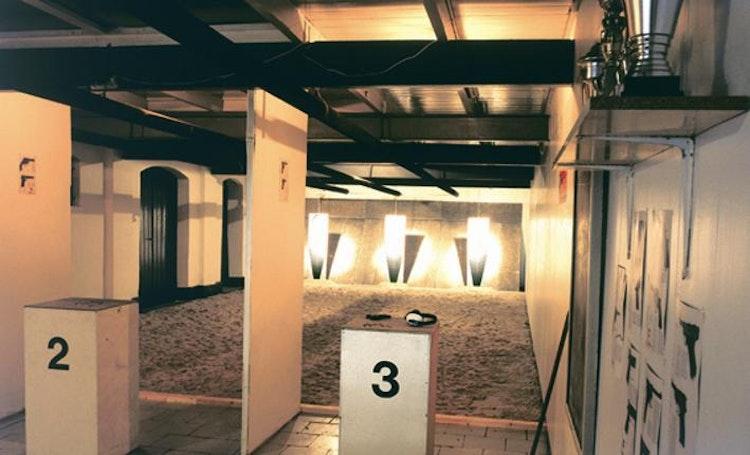 Installatie: 'Schietoefenzaal'