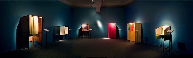 Installatie: 'Wahlkabinenmuseum'