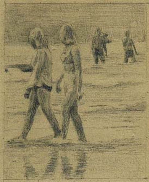 Two women on a beach
