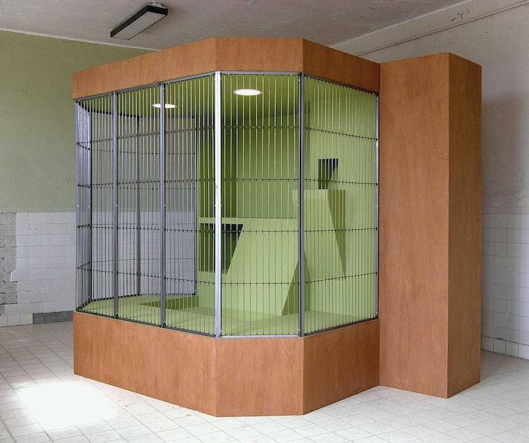 Cage for Saimiri boliviensis