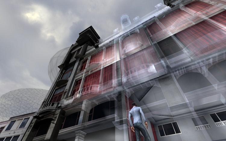Implant, 2006 Een publiek gebouw heruitvinden als overdraagbare architectuur, een voortdurende en herzienbare ruimte die niet vast hangt aan ons alledaags begrip van fysica, noch aan de continuïteit van ruimte en tijd. © Workspace Unlimited