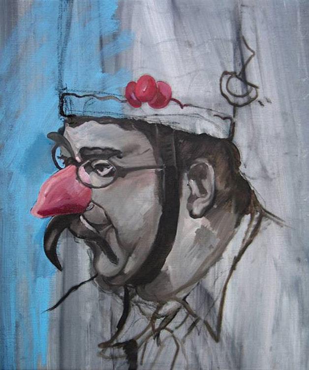 Man met rode neus
