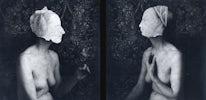 Maskers, 1991, 2x 45x45 cm Zilverprints selenium