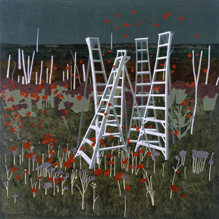 Ladders, 2001, olie op doek, 190 x 190 cm