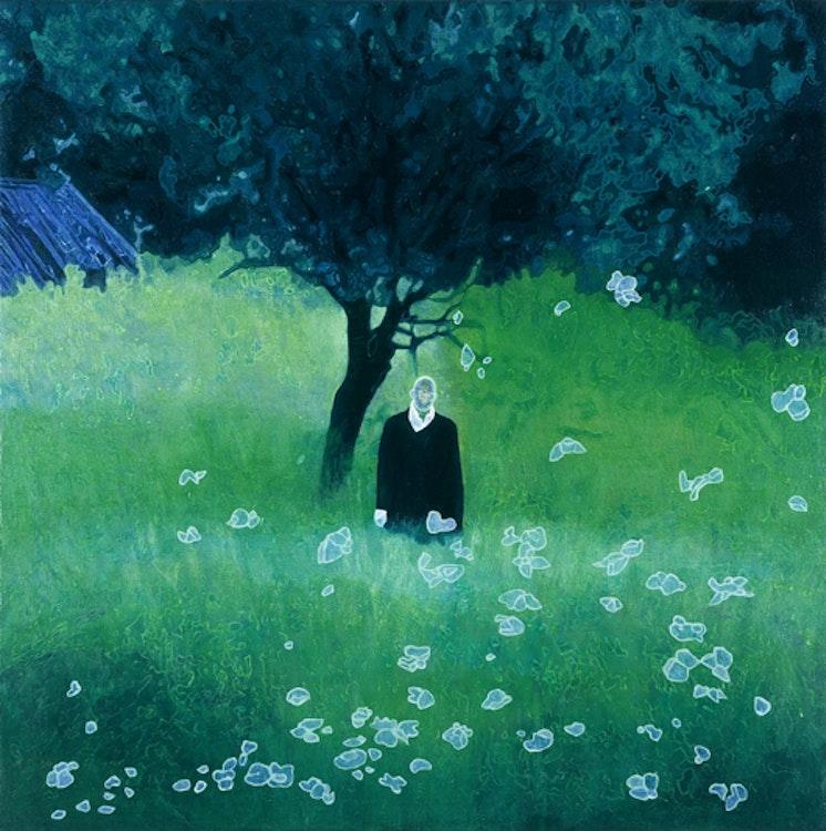 L'homme aux semelles de vent, 2005, olie op doek, 100 x 100 cm