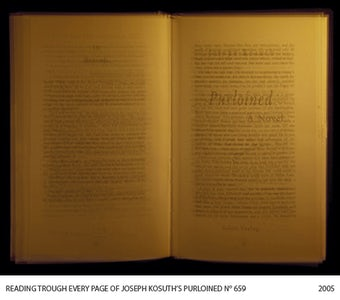 Reading Through Every Page of Joseph Kosuth's Purloined (659)