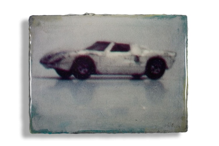 Ford GT 40, 30 x 40 cm, mixed media
