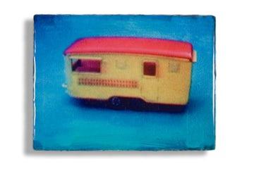 Caravan, 30 x 40 cm, mixed media