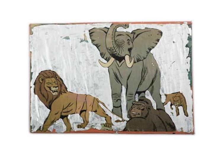 Tarzan, Zilververf op poster, 28 x 40 cm