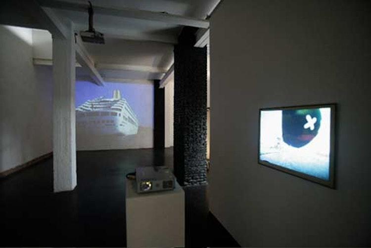 installation view 'The White Giant' & 'Triple X'