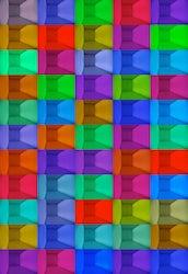 interieur elke 30 seconden een beeld RGB Led's, DMX computersturing