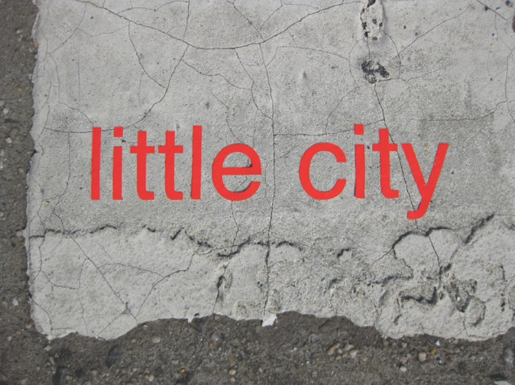 little city (Brooklyn Bridge) (nyc stickers)