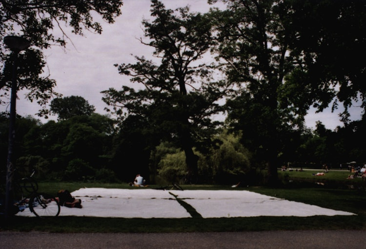 Four white blankets