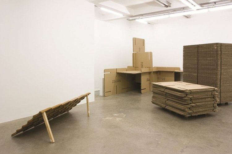 Exhibition view 'Roofing', Koraalberg Gallery, Antwerp /Belgium