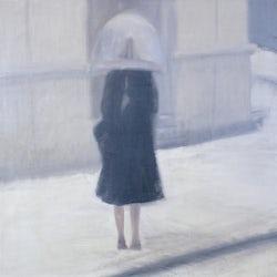 Figuur in de Sneeuw