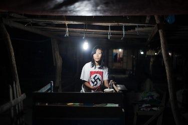 Swastika, Myanmar