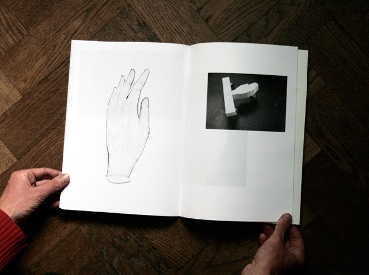 (left) A hand, true scale, 2009 // (right) Husk mit navn, 2010