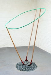 Form leaning on rakes