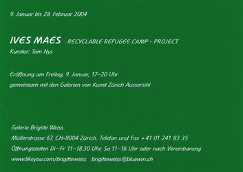 Ives Maes. The Recyclable Refugee Camp Project