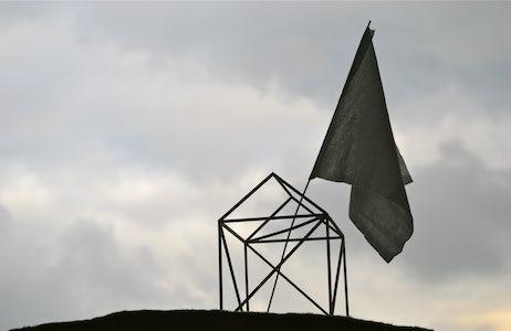 Caroline Van den Eynden - House with flag, 2013