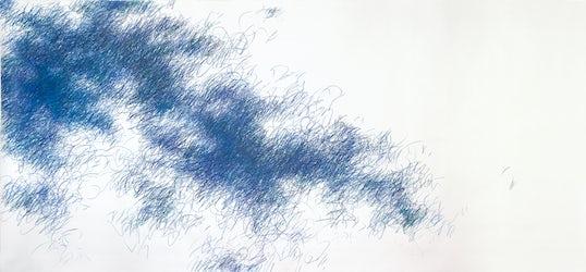 Alleen de woken - kleurpoltlood op papier