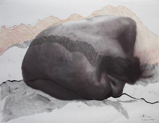 'Ik ben lava', mixed media op papier, 2016