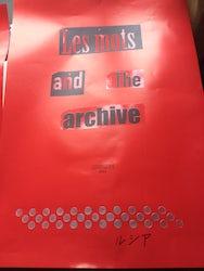 Les mots et les archives