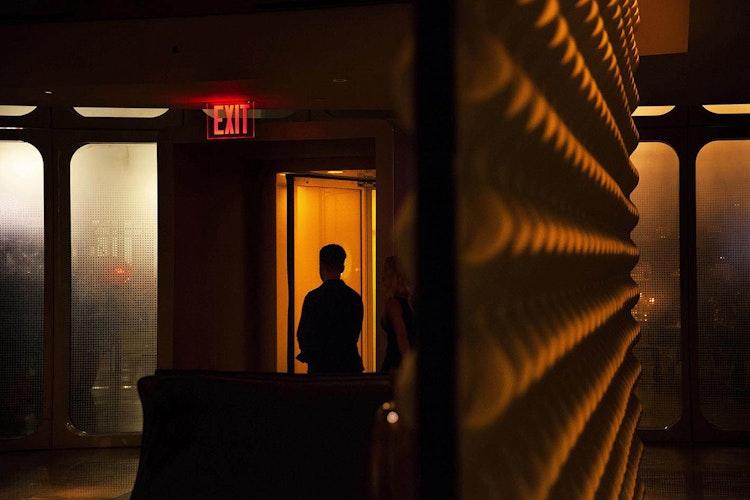 'Against the light', lightbox